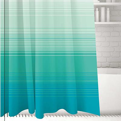 019-006 SonWelle Шторка для ванной, полиэстер, 180х180см, с утяжелителем, НЕЖНОСТЬ
