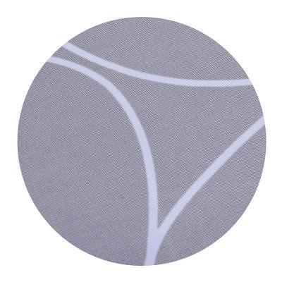 019-010 SonWelle Шторка для ванной, полиэстер, 180х180см, с утяжелителем, КРУГИ