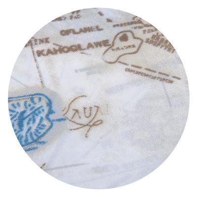 019-016 SonWelle Шторка для ванной, полиэстер, 180х180см, с утяжелителем, МОРЕ