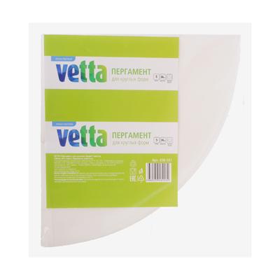 438-101 VETTA Пергамент для круглых форм 5 листов, d36см, п/эт пакет, бумажная этикетка