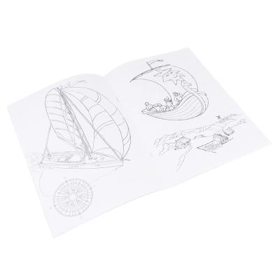 290-214 ЮТОН Раскраска с наклейками, бумага, 30х21см, 12 стр. + 2стр. наклеек, 8-10 дизайнов