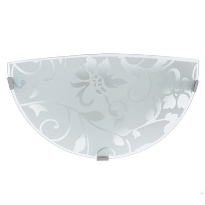 417-113 Светильник полукруглый Эрика 300/2 мм, 31х20х10см, 60Вт, E27, стекло, металл