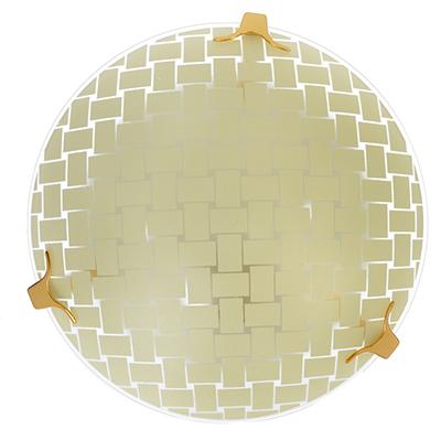 417-120 Светильник Плетенка 25,5х25,5х11,5см, 60Вт, E27, стекло, металл