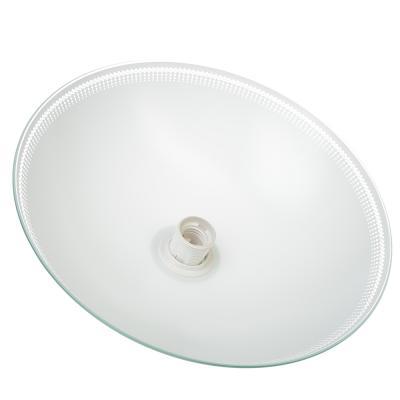 417-122 Светильник подвесной Кайма 350 мм, 60Вт, Е27, глянцевый, шнур белый, стекло