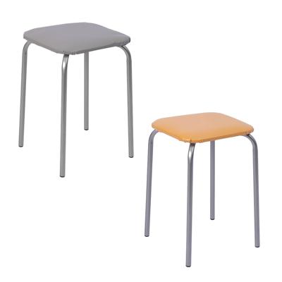 465-206 НИКА Табурет квадрат, металл, ДСП, мягкое сиденье, h47см, 29x29см, арт.ТБ2