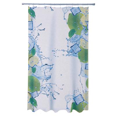 461-477 VETTA Шторка для ванной, ткань полиэстер с утяжелит, 180x180см, фотопечать эконом, Кубики льда