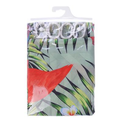 461-481 VETTA Шторка для ванной, ткань полиэстер с утяжелит, 180x180см, фотопечать эконом, Южные цветы