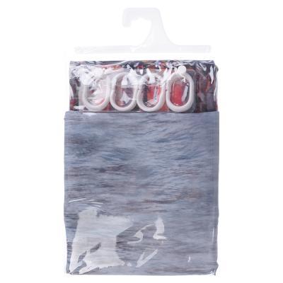 461-482 VETTA Шторка для ванной, ткань полиэстер с утяжелит, 180x200см, фотопечать эконом, Венеция