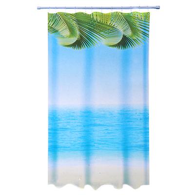 461-483 VETTA Шторка для ванной, ткань полиэстер с утяжелит, 180x200см, фотопечать эконом, Пальмы