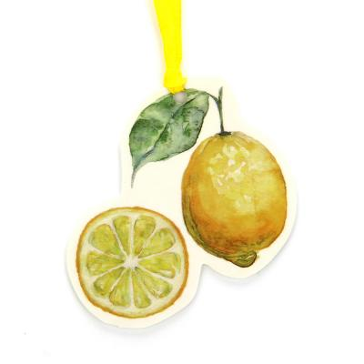 425-129 LADECOR Ароматизатор на подвесе, 17,5х11см, аромат лимона