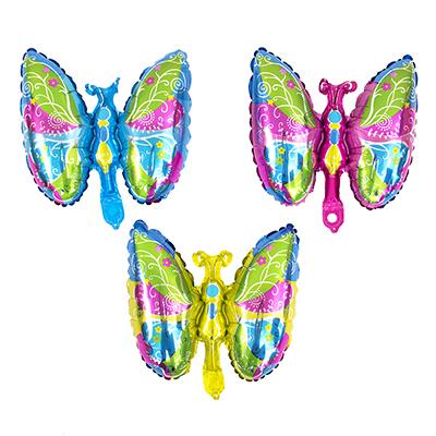 518-051 Шар фольгированный в виде бабочки, 30х40 см, арт 05