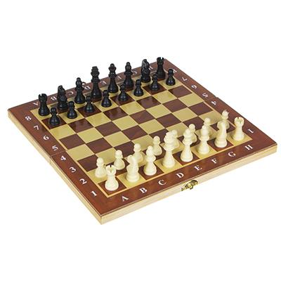 539-016 Настольная игра, шахматы, дерево, пластик, 29х29см, 1