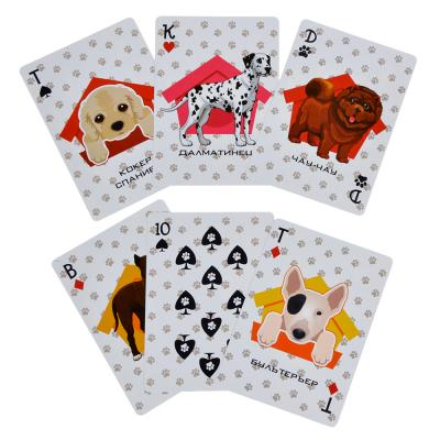 538-081 Карты игральные пластиковые, 6,3х8,8см, 36 шт, Породы собак
