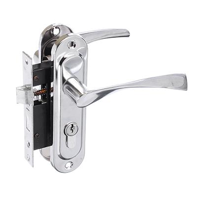 611-180 Замок врезной 0827/60, ключ-вертушка, м/о 50 мм, хром