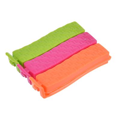 438-103 Набор зажимов для пакетов 3шт, пластик, 7см, 3 цвета