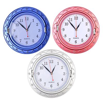 581-578 Часы настенные, пластик, 20см, 1хАА, 3 цвета