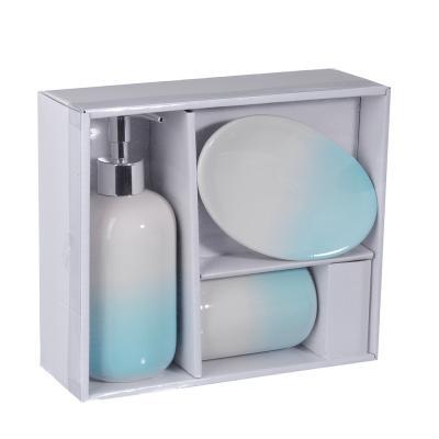 """048-012 Набор для ванной, керамика, 3 предмета, SonWelle """"Нежность"""""""