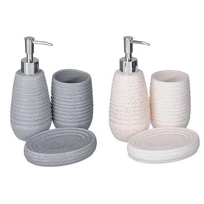 "048-013 Набор для ванной, керамика, 3 предмета, SonWelle ""Гранит"""
