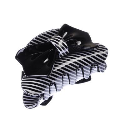324-124 Заколка-краб для волос, пластик, 8,5 см, 3-6 дизайнов