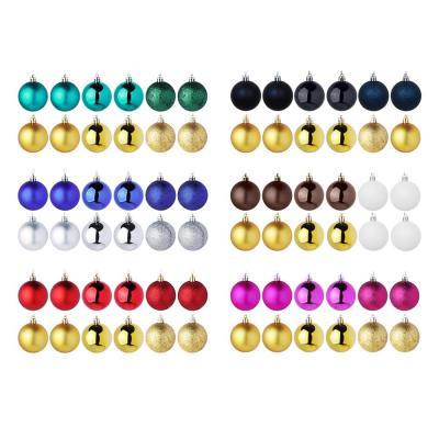 372-376 Елочные шары набор СНОУ БУМ 12 шт, 6см, пластик, в тубе, ассортимент цветов