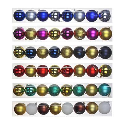 372-377 СНОУ БУМ Набор шаров 8 шт, 8см, пластик, в тубе, ассортимент цветов