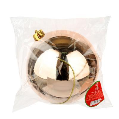 372-398 СНОУ БУМ Шар 15см, пластик, 1шт, в пакете, шампань