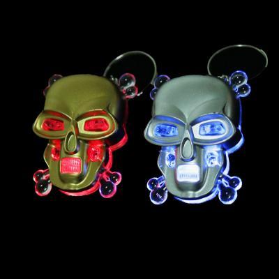 519-376 Брелок световой в виде черепа, пластик, 4-5см, 2 цвета
