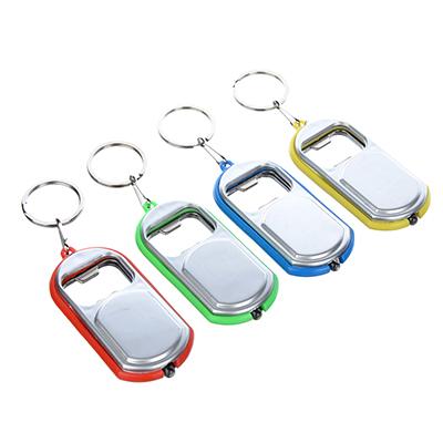 519-379 Брелок световой-открывалка, пластик, 6-7см, 4 цвета