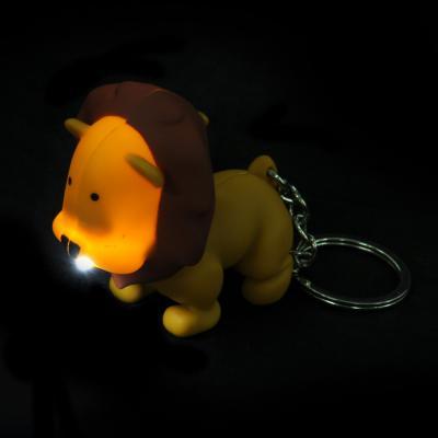 519-388 Брелок в форме льва, свет, звук, пластик, 10,5см