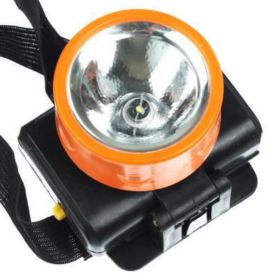 221-001 Фонарик налобный, 1 LED, 1Вт, 3*АА, 8х6см, пластик