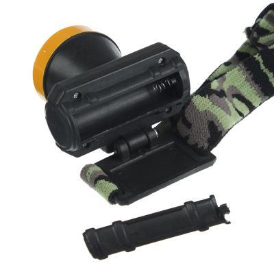 221-002 ЧИНГИСХАН Фонарик налобный, 1 LED, 0.5Вт, 1xАА, 6,5х7см, пластик, 1 режим