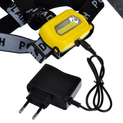 221-006 ЧИНГИСХАН Фонарь налобный, 1 COB, 7Вт, аккумулятор 200мАч, 8х4см, пластик, 3 режима