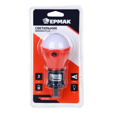 222-002 ЧИНГИСХАН Светильник кемпинговый подвесной, 3 LED, 2Вт, 3*АAА, 11.5х5х5см , пластик