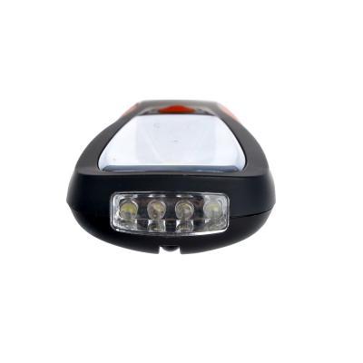 222-008 Фонарик подвесной, 1 COB + 4 LED сверху, 2Вт, 4*AAA, 20см, резинопластик, 2 режима