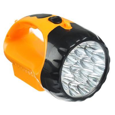 223-002 ЧИНГИСХАН Фонарь прожектор, 15 LED, аккумулятор 500мАч, 16х9см, пластик