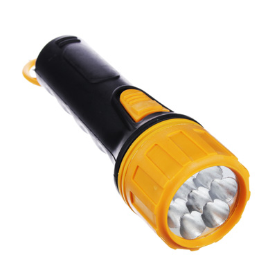 224-004 ЧИНГИСХАН Фонарь, 7 LED, 2Вт, 2xD, 19см, пластик