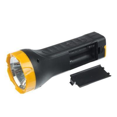 224-008 ЧИНГИСХАН Фонарь ручной, 1 LED+7 SMD LED, 1W+3W, 3*AA, 16см, пластик, 2 режима