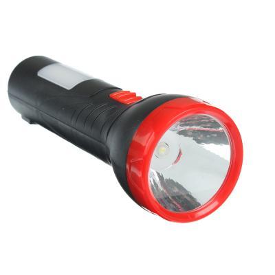 224-011 ЧИНГИСХАН Фонарь, 2 режима: 1 LED, 6 LED, 1Вт+3Вт, аккумулятор 400мАч, 16.5см, пластик