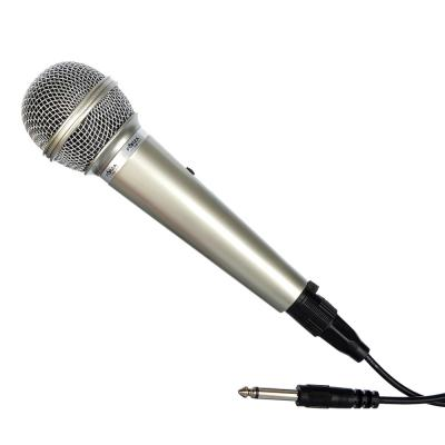 916-130 FORZA Микрофон, 17 см, провод 2,5м, серебристый