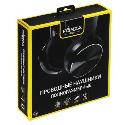 916-136 Наушники FORZA с микрофоном полноразмерные под металлик, коробка картон, 2 цвета