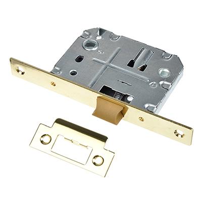 616-017 Механизм защёлки с фиксацией 50мм, м/о 70мм, пластиковый ригель PB(золото)
