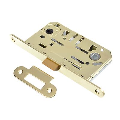 616-019 Механизм защёлки с фиксацией 50мм, м/о 96мм, пластиковый ригель PB(золото)