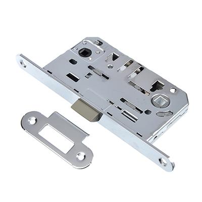 616-020 Механизм защёлки с фиксацией 50мм, м/о 96мм, пластиковый ригель CP(хром)