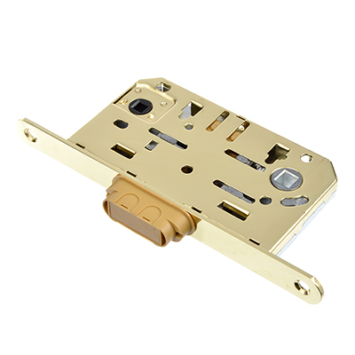 616-027 Механизм защёлки 50мм, м/о 96 мм, ригель - магнитный механизм PB(золото)