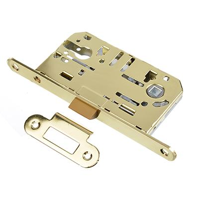616-029 Корпус врезного замка под цилиндровый механизм 50мм, м/о 85 мм PB(золото)