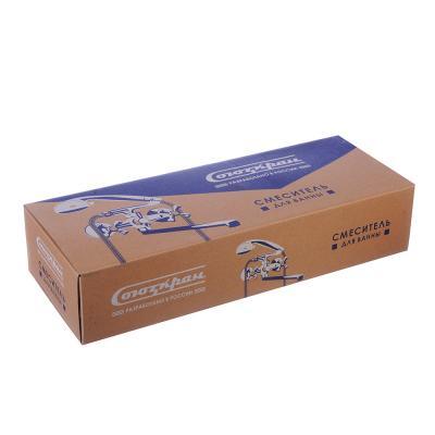 567-039 СоюзКран Смеситель для ванны с дл. изливом 40см SK2052, с душ набором,керам. кран-букса 3/8, цинк