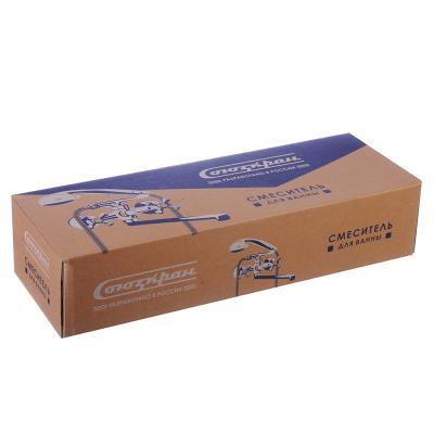 567-044 СоюзКран Смеситель для ванны с дл. изливом SK2102, с душ набором,керам. кран-букса 1/2, цинк