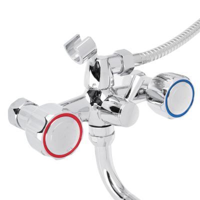 567-046 СоюзКран Смеситель для ванны с дл. изливом SK2122, с душ набором,керам. кран-букса 1/2, цинк