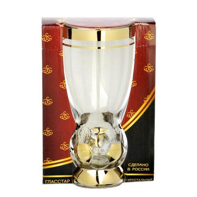 531-135 Бокал пивной стеклянный с декором С4052 410мл Н Кубок победителя