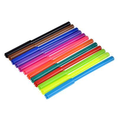 256-126 Рейсинг Фломастеры 12 цветов, с цвет. вентилир. колпачком, пластик, в карт.коробке с подвесом